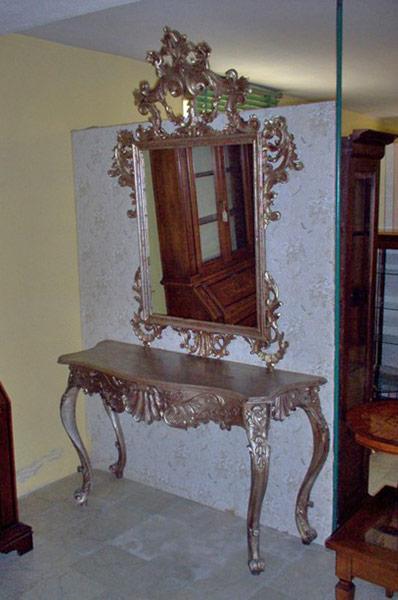 Consolle con specchio barocco